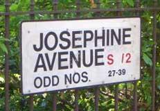 josephine avenue sign